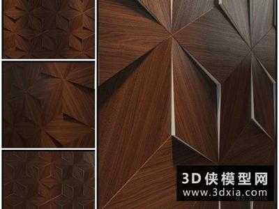 现代形象墙国外3D模型【ID:929593610】