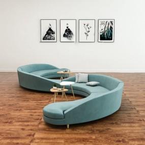 现代异形沙发3D模型【ID:726231670】