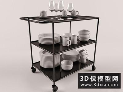 現代餐車國外3D模型【ID:129431355】