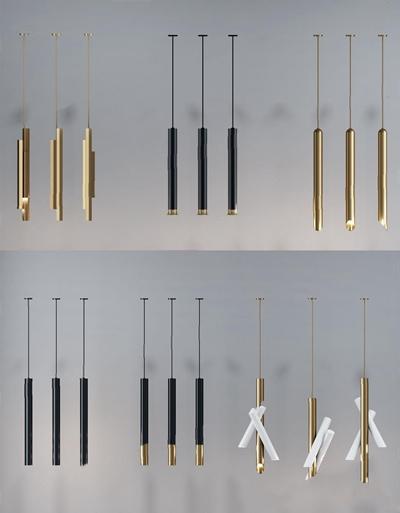 現代吊燈組合3D模型【ID:528034872】