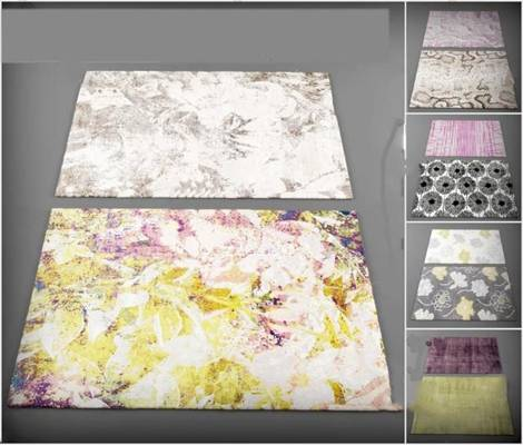 现代地毯3D模型下载【ID:419506006】