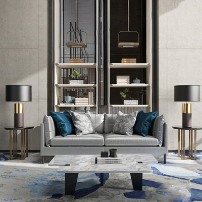 新中式沙发3D模型【ID:928176771】