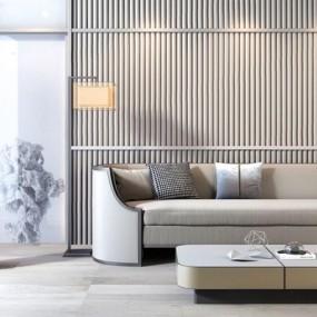 新中式双人沙发3D模型【ID:928339734】