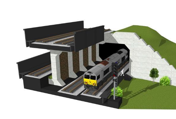 火車隧道SU模型【ID:847859172】