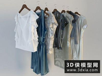 現代女孩衣服國外3D模型【ID:929569664】