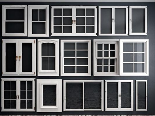 歐式窗戶組合3D模型【ID:528005092】