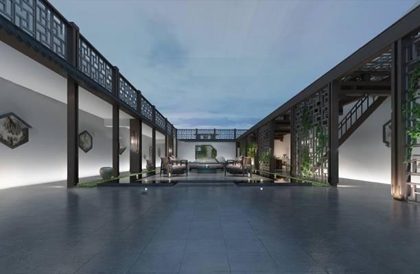 传统中式庭院3D模型【ID:920013023】