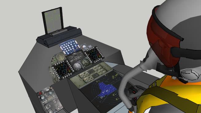 战斗机驾驶舱(更新)SU模型【ID:840366509】