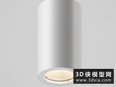 明裝射燈國外3D模型【ID:929411194】
