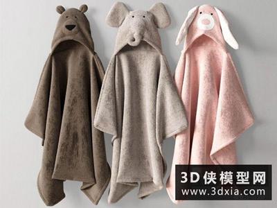 浴巾國外3D模型【ID:929471618】