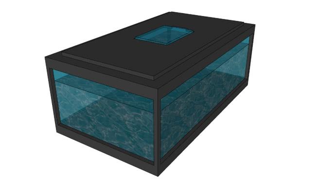 鱼缸(矩形)SU模型【ID:740368643】