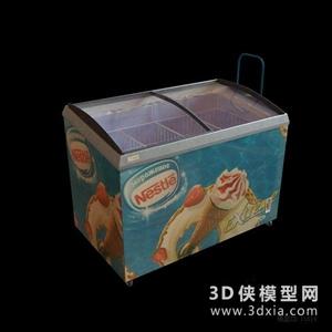 超市货架国外3D模型【ID:229847341】