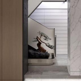 新中式茶室3D模型【ID:327932755】