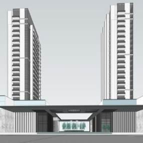 现代高层住宅 商业 示范区SU模型【ID:245212783】