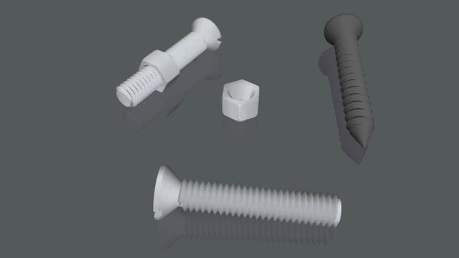 螺钉和螺母用henkietenkSU模型【ID:940371248】