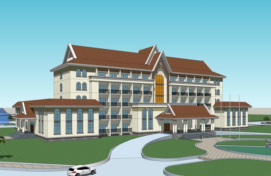 东南亚风格酒店SU模型【ID:337018502】