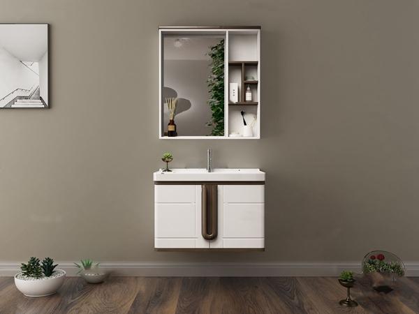 现代洗手台浴室柜3D模型【ID:147405876】