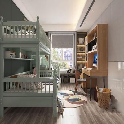 北歐兒童房3D模型【ID:534036786】