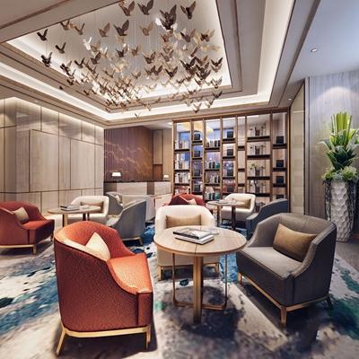 后现代酒店3D模型【ID:428265272】