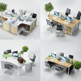 辦公桌椅組合3D模型【ID:227882953】