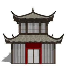 中式仿古阁楼SU模型【ID:850733604】