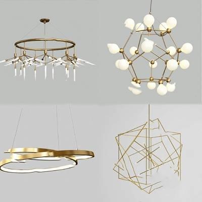 吊灯3D模型【ID:220023839】