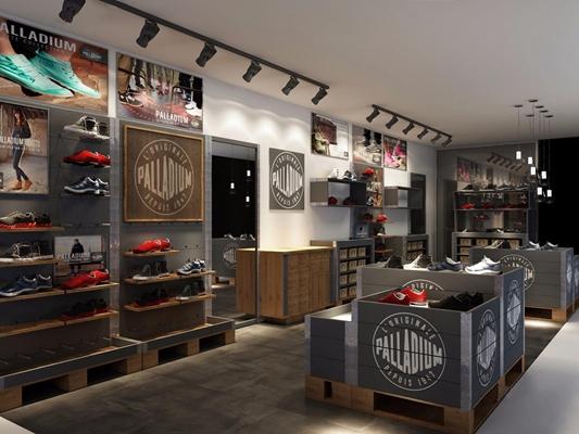 现代鞋子店3D模型【ID:728185798】