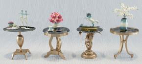 简欧金属茶几圆几花瓶摆件组合3D模型【ID:127754351】