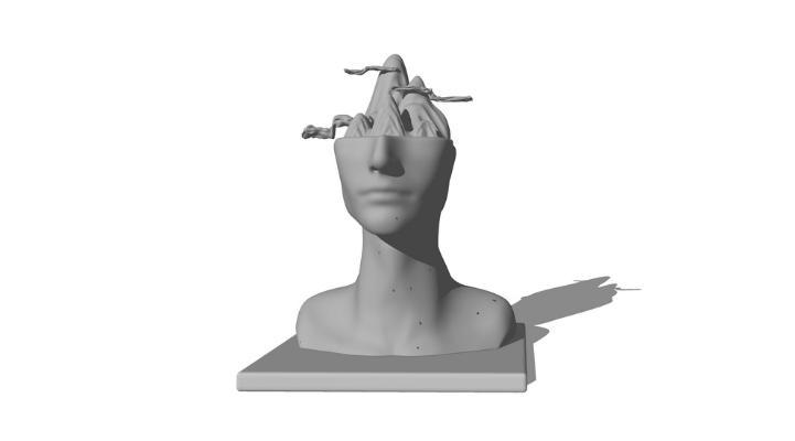 新中式人物雕塑SU模型【ID:647861647】