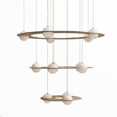 现代吊灯3D模型【ID:220619827】
