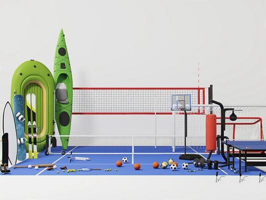 體育設施運動場地組合3D模型【ID:628292089】