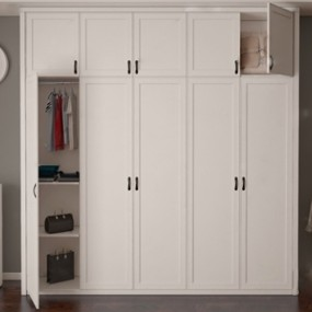 现代实木衣柜3D模型【ID:931408947】
