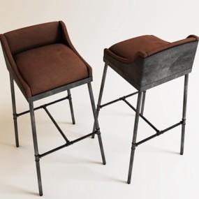 工业风酒吧椅子3D模型【ID:327895174】