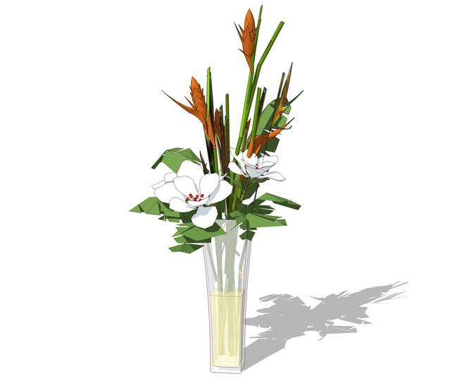 花瓶插花摆件SU模型【ID:937029654】