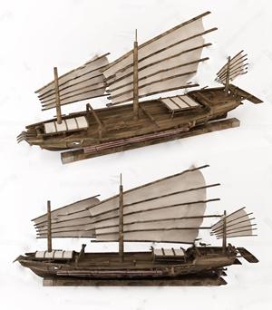 木船模型3D模型【ID:241358575】