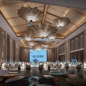 东南亚宴会厅3D模型【ID:428143454】