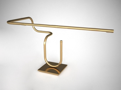 现代线条台灯3D模型【ID:841710116】