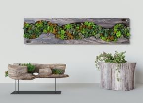 中式植物墙根雕木雕木刻组合3D模型【ID:127751835】