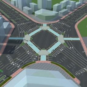 现代道路3D模型【ID:126234270】