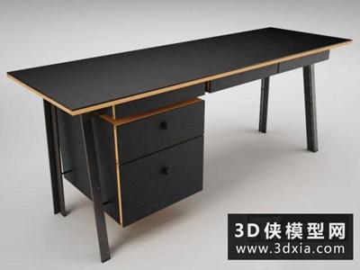 現代書桌國外3D模型【ID:729729783】