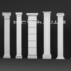 欧式柱子3D模型【ID:628042999】