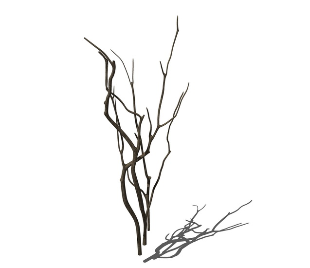 干樹枝擺件S模型SU模型【ID:937040652】