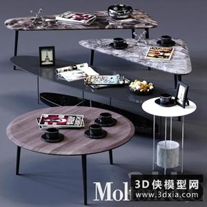 現代茶幾國外3D模型【ID:829444161】