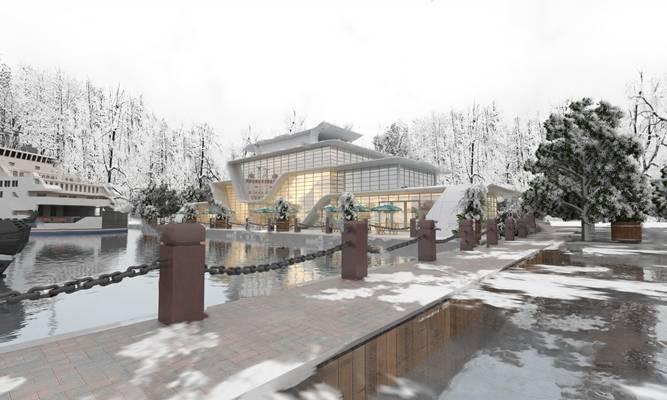 现代酒店3D模型【ID:124895327】