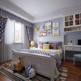 美式儿童房3D模型【ID:127867297】