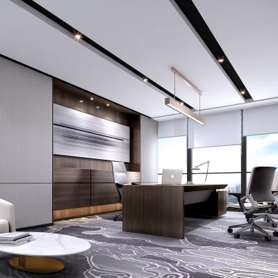 现代总经理办公室3D模型【ID:727811590】
