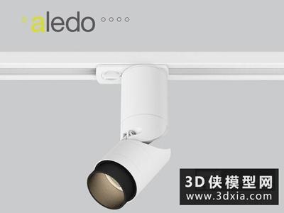 軌道射燈國外3D模型【ID:929340197】