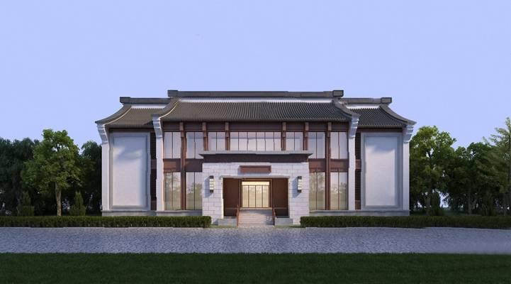 传统中式建筑3D模型【ID:220012800】