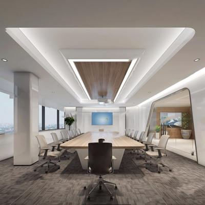 现代会议室3D模型【ID:728111805】
