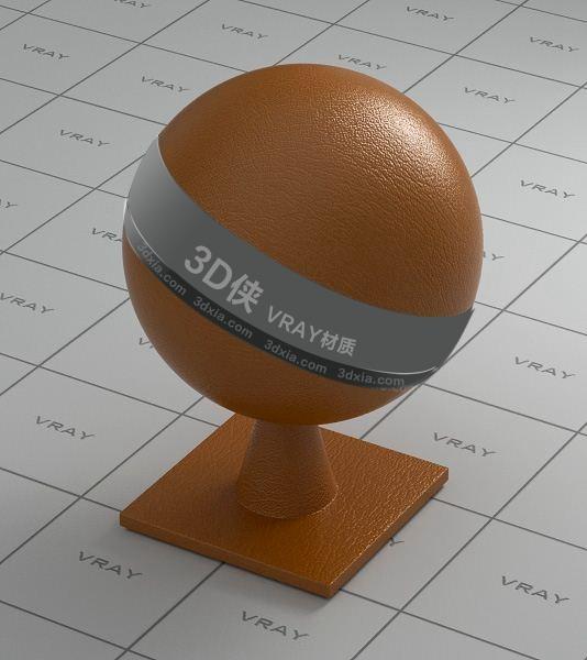 橙色皮革Vray材質【ID:736521995】